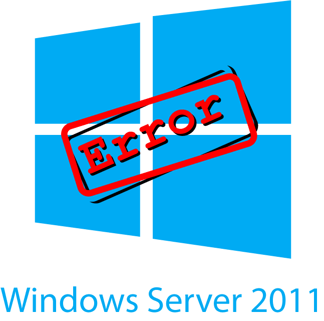 Windows Server 2011 Error