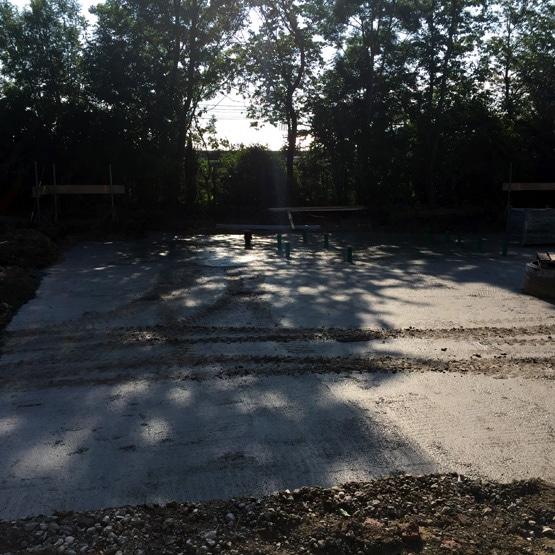 MXP Bodenplatte Grundstück