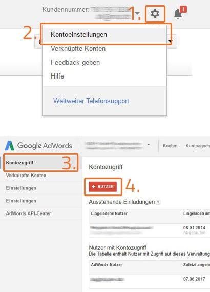 google adwords kontozugriff anlegen