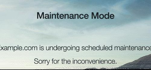 WordPress Maintenance-Mode