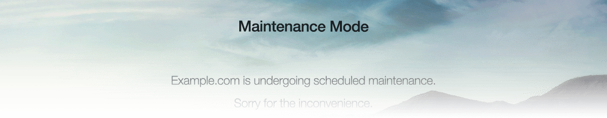 WordPress Maintenance-Mode