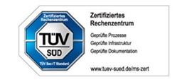 Tüv Süd zertifiziertes Rechenzentrum