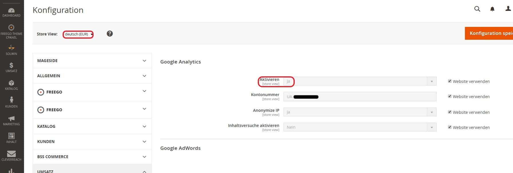 Google Analytics eCommerce Tracking Magento2 - Step 5